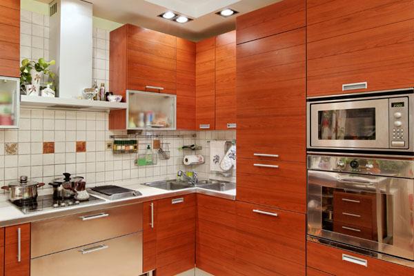 Шпонированная кухонная мебель